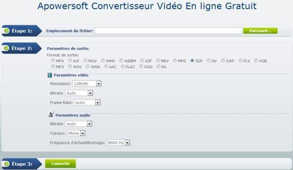 convertir une vidéo en ligne