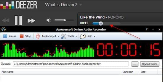 enregistrer deezer en ligne