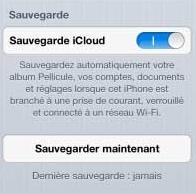 sauvegarder iPhone avec iCloud
