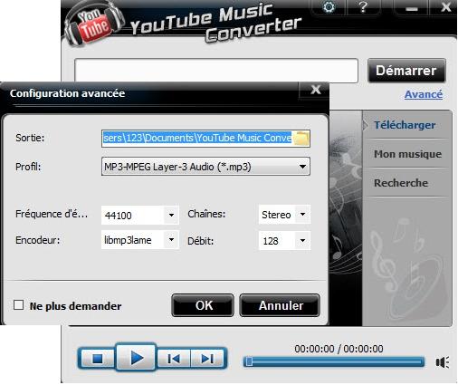 enregistrer la musique YouTube